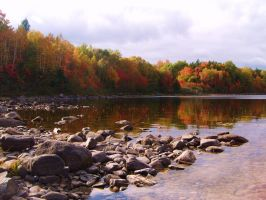 lakeview of fall by ssg-McGary
