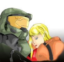 Samus and Chief by AlvMar0122