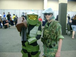 Master Chief finds a marine by Gubreez