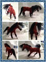 Bay Stallion Art Doll by GreyscaleRainbowXx
