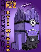 Despicable Me Evil Purple Minion 3D by SKGaleana