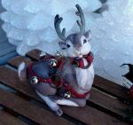 Dash Away Reindeer Sculpture by MysticReflections