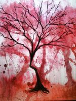 Tree painting on canvas by PC-KiKi