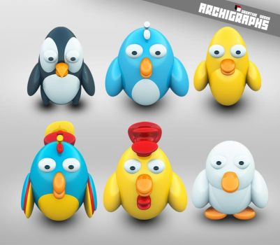 Archigraphs Bird Dock Icons by Cyberella74