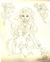 demon girl pencil by anapeig