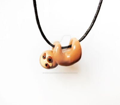 Cute sloth charm necklace by mAd-ArIsToCrAt