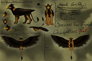 Griffy Ref Sheet by Jujubomber