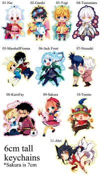 Keychains by inma