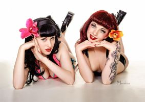 Stick em up pin up by Modelfaye
