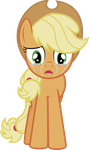 Applejack in tears by j5a4