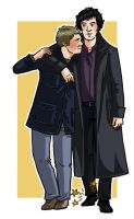 Sherlock and the twisted ankle by Paperflower86
