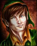 Old School Link Colored Pencil by AiijuinGraphics