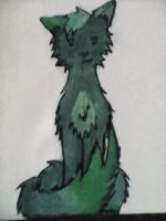 Green kitty by kaidarae