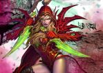 Valeera Hearthstone by GeliBubbleGum