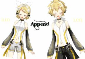 Rin and Len Kagamine Append by AmuletDreams6525
