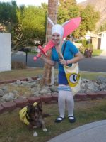 Fionna the Human Cosplay Butterfiles and bees by chaiiro03