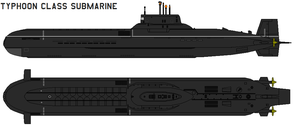 Typhoon class submarine by bagera3005