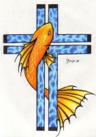 Fish and Cross by pandalemur
