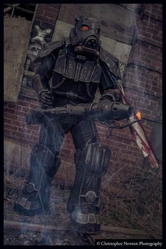 Enclave Hellfire Trooper holding his ground by JammyMachiko