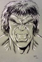 Lou Ferrigno Hulk convention sketch by Simon-Williams-Art