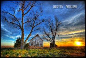 Barn Sunset by CPPhotography9