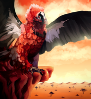 Bearded vulture -COLLAB- by TrollcreaK