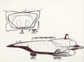 Old shuttle concept by Jepray