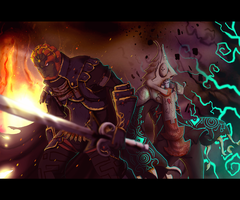 Ganondorf and Zant by AdoobibullTwin4