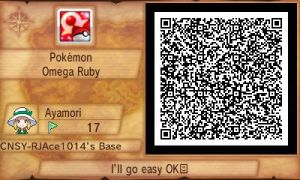 Pokemon ORAS QR - Easy Test Battle by RJAce1014