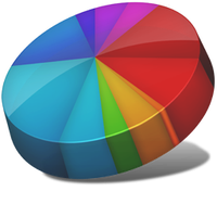 Pie chart icon by Ornorm