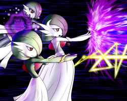 Team Work (FanArt of my Gardevoirs) by Chaos-Artixal