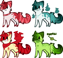 Cat adoptable batch #1 by Inky-Adopts