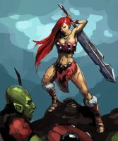 Barbarian Girl by Beaver-Skin
