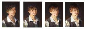 Portrait Working Process by luulala