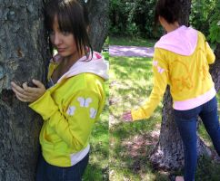 Fluttershy Jersey Hoodie by Lisa-Lou-Who