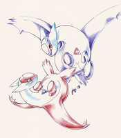 Latias and Latios by Jiayi