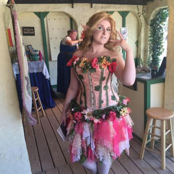 Flora Nymph Costume: Completed by MusicInducedDaydream