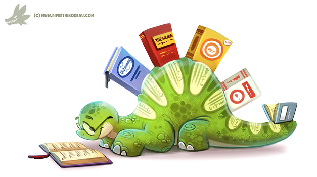 Daily Paint #1139. Thesaurus by Cryptid-Creations