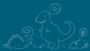 Dino Family by The-Scribbly-Fairy