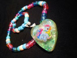 Rainbow Dash Kandi Resin necklace by Lutrasaura