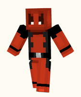 Deadpool Minecraft Skin by CaffeinatedPokedex