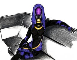 Tali (colored) by CyberII
