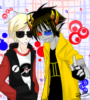 Dave n Sollux by Timeless-Knight