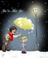 Lucy and Tumnus by artemisio