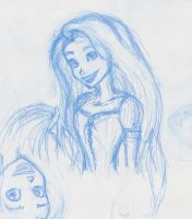 Rapunzel Tangled - Sketch Test by pootpoot1999