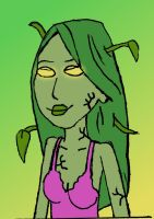 Alyssa the Plant-Zombie: Close-Up by LittleGreenGamer