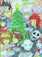 A Christmas crossover card by Tora20