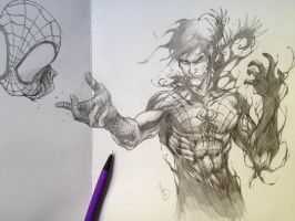 Spiderman sketch by Adrianohq
