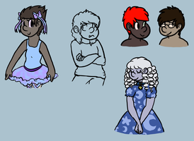 [COMMISSION] Humanized OC's BATCH 2 by CassMutt