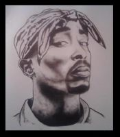 TUPAC MURAL by KYLE-CHANEY